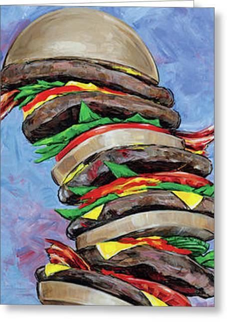 Burger Stack Greeting Card