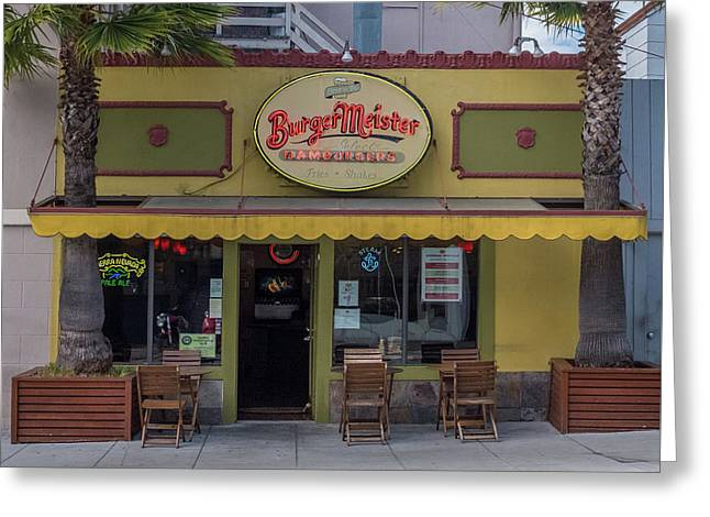 Burgermeister Restaurant, San Francisco Greeting Card