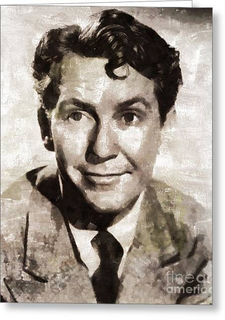 Burgess Meredith, Vintage Actor By Mary Bassett Greeting Card