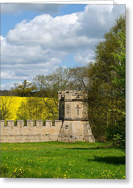 Burghley House Fortifications Greeting Card