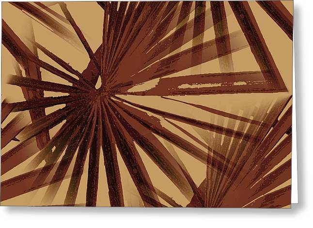 Burgundy And Coffee Tropical Beach Palm Vector Greeting Card