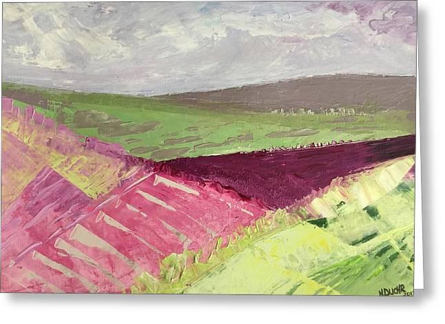 Burgundy Fields Greeting Card