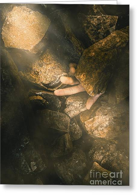 Buried Alive Greeting Card by Jorgo Photography - Wall Art Gallery
