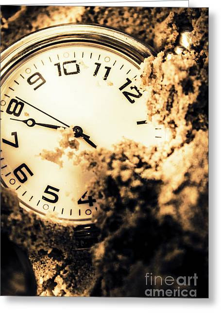 Buried By The Hands Of Time Greeting Card by Jorgo Photography - Wall Art Gallery