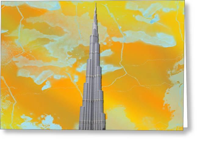 Burj Khalifa Greeting Card by Yaser Saad