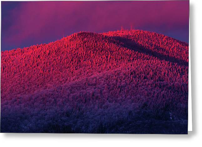 Burke Alpenglow Greeting Card