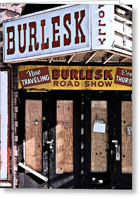 Burlesk At The Folly Greeting Card