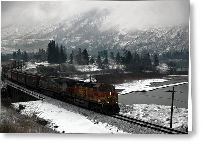 Burlington Northern  Greeting Card by Jeff Swan