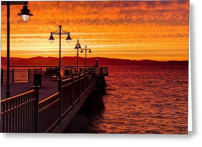 Burlington Sunset Greeting Card