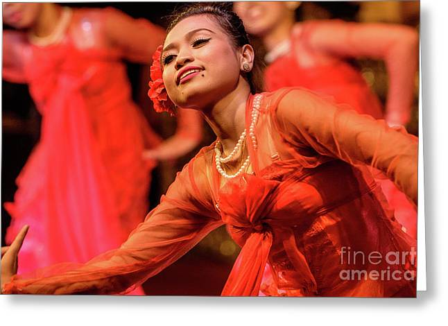Burmese Dance 1 Greeting Card by Werner Padarin