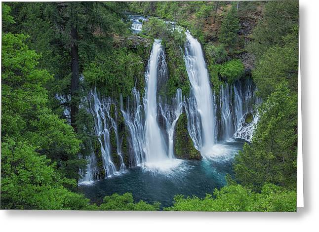 Greeting Card featuring the photograph Burney Creek Falls by Patricia Davidson