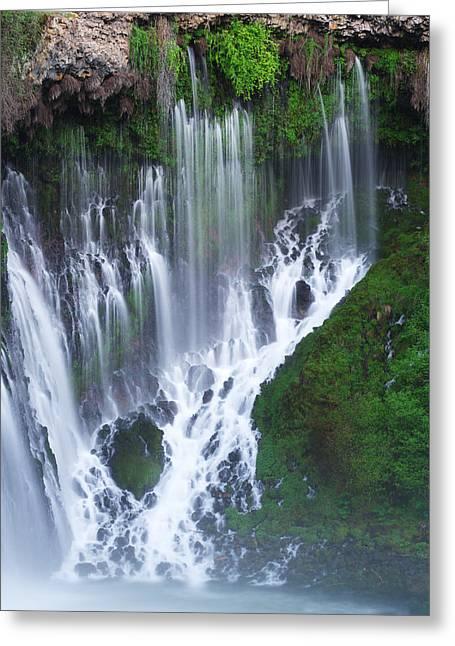 Burney Falls Greeting Card by Eric Foltz