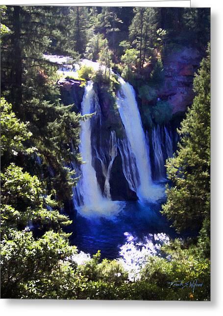 Burney Falls Greeting Card by Frank Wilson