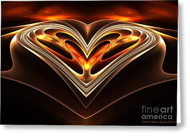 Burning Desire Greeting Card by Sandra Bauser Digital Art