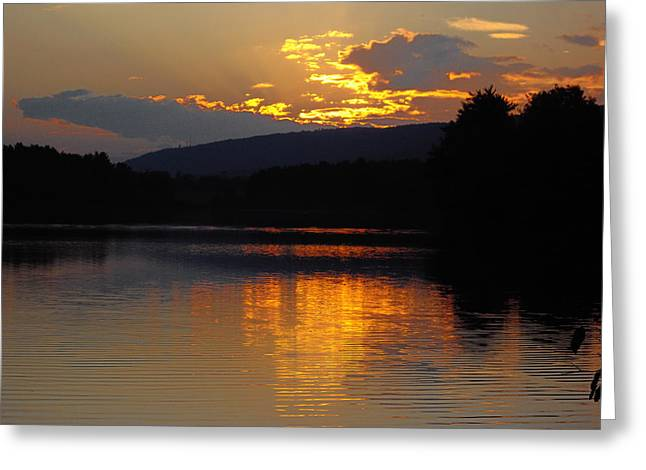 Greeting Card featuring the photograph Burning Gold by Vilas Malankar