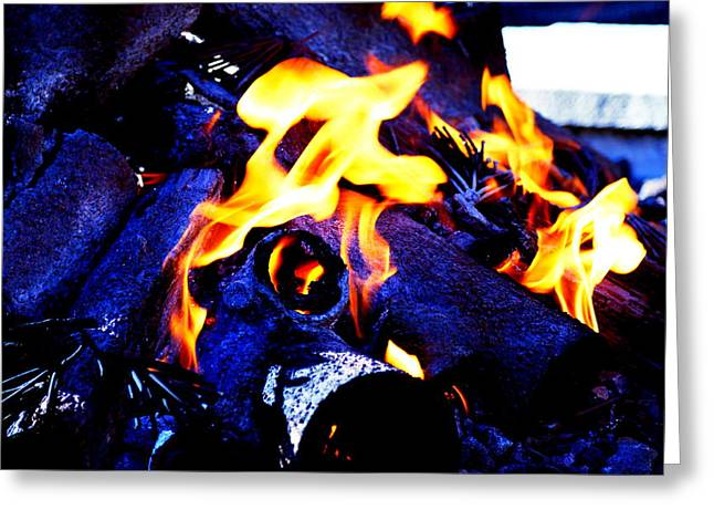 Abstract Digital Photographs Greeting Cards - Burning Love Greeting Card by PlusO FineArt