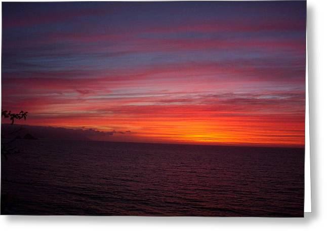 Burning Sky 2 Greeting Card by James Johnstone