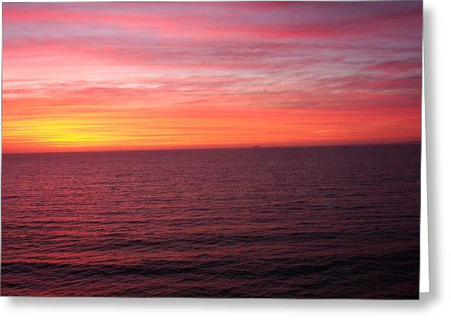 Burning Sky Greeting Card by James Johnstone