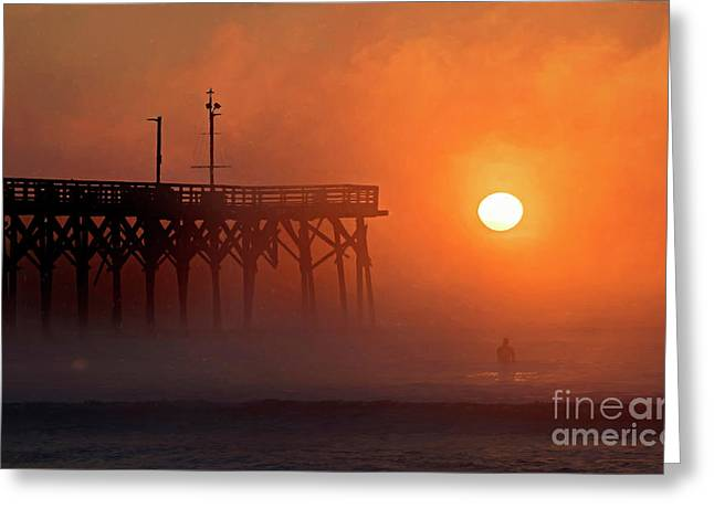 Greeting Card featuring the photograph Burning Through by DJA Images