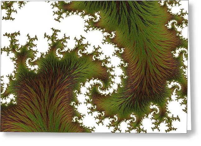 Burnished Leaf Abstract Greeting Card