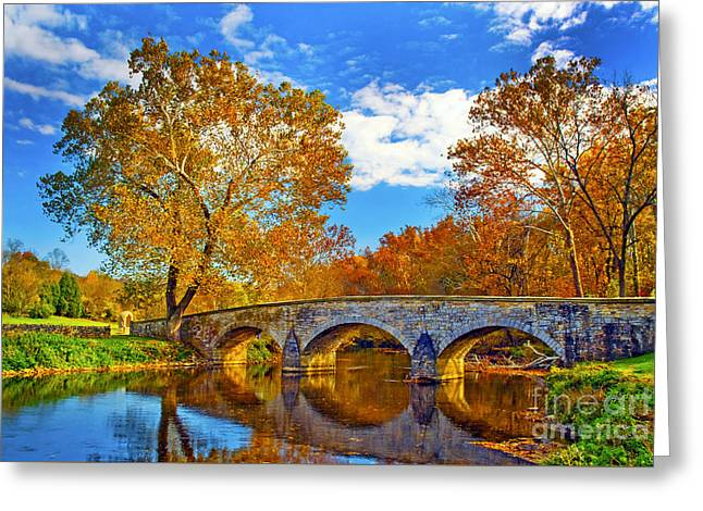 Burnside Bridge At Antietam Greeting Card by Paul W Faust -  Impressions of Light