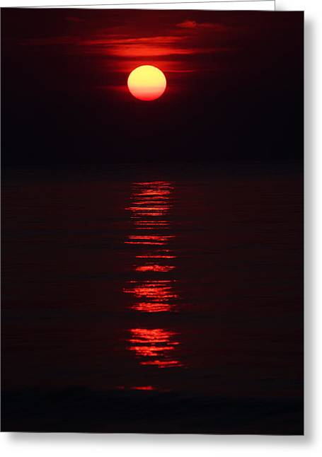 Burnt Orange Sunrise Greeting Card