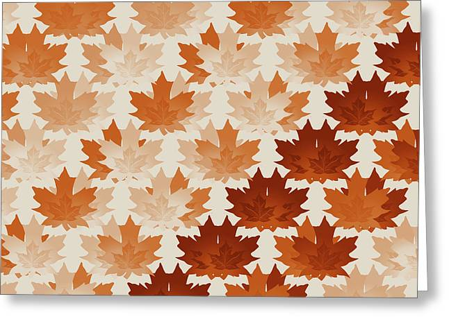 Burnt Sienna Autumn Leaves Greeting Card