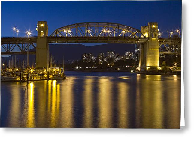 Burrard Street Bridge Vancouver Greeting Card by Naman Imagery