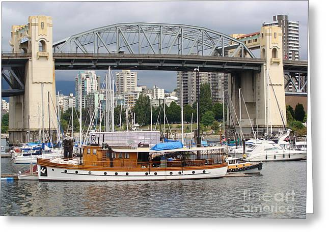 Burrard Street Bridge, Vancouver Greeting Card by Rod Jellison