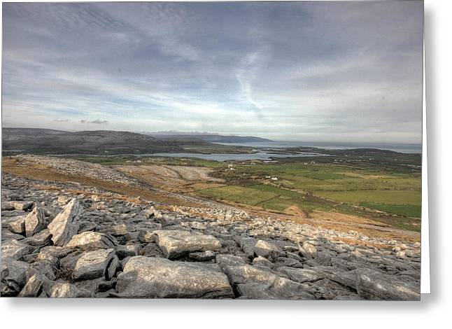 Burren Scenery  Greeting Card by John Quinn