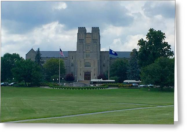 Burress Hall 2 Greeting Card by Andrew Webb