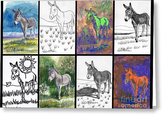 Burro Sampler #1 Greeting Card