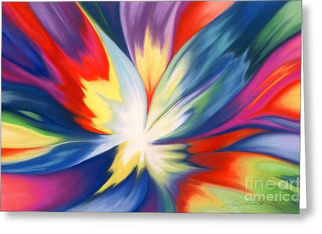Burst Of Joy Greeting Card by Lucy Arnold