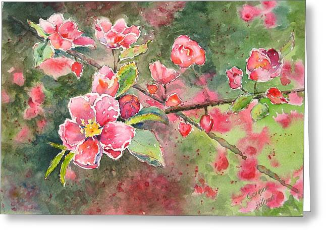 Burst Of Spring Greeting Card by Corynne Hilbert