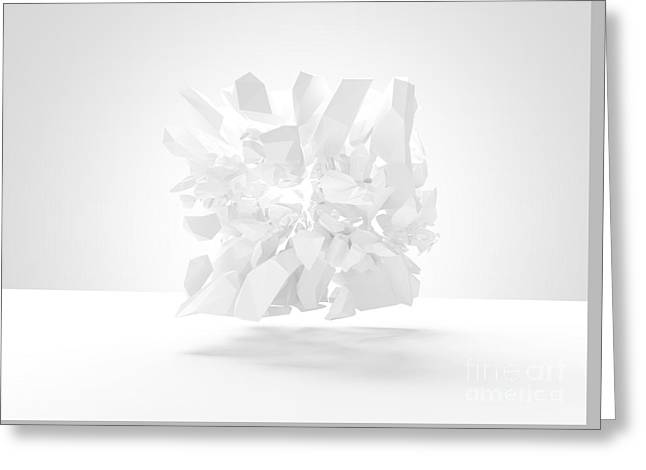 Bursting Object 3d Render Greeting Card by Marco Neubauer