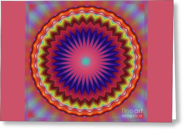 Bursting Star Mandala By Kaye Menner Greeting Card