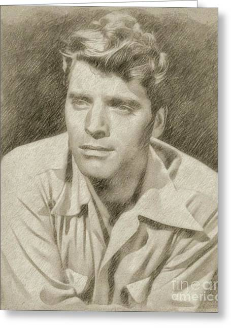 Burt Lancaster Hollywood Actor Greeting Card by Frank Falcon