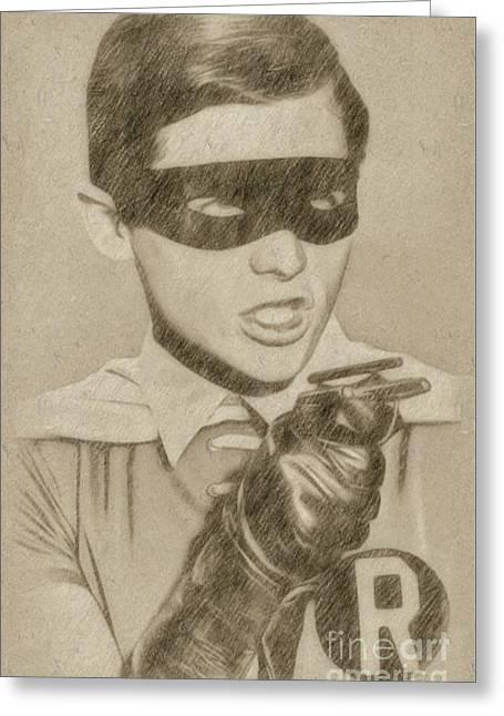 Burt Ward As Robin Greeting Card