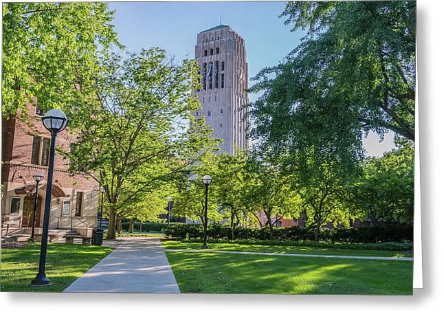 Burton Memorial Tower 1 University Of Michigan  Greeting Card