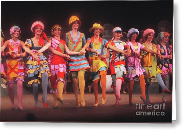 Busby Berkeley Dancing Girls In No No Nanette Greeting Card by The Harrington Collection