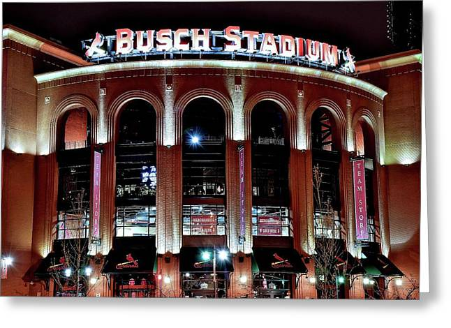 Busch Stadium Greeting Card by Frozen in Time Fine Art Photography