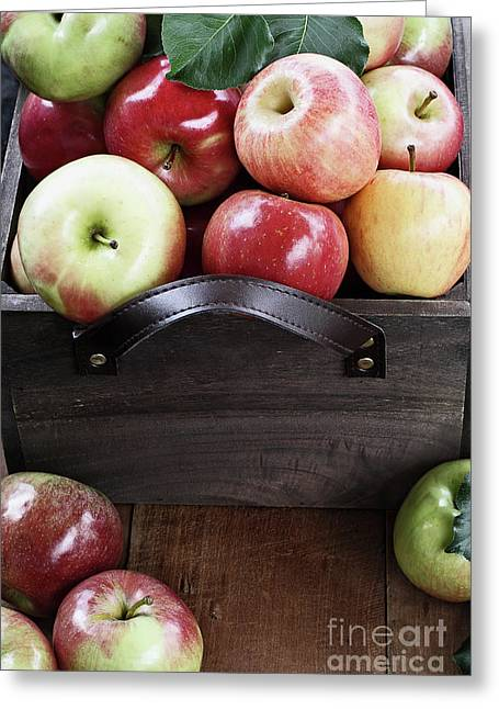 Greeting Card featuring the photograph Bushel Of Apples  by Stephanie Frey