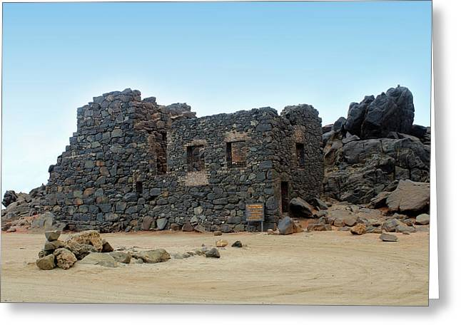 Bushiribana Gold Mill Ruins Of Aruba Greeting Card by Design Turnpike