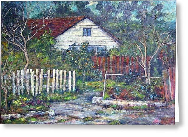Bushy Old House Greeting Card by Lily Hymen
