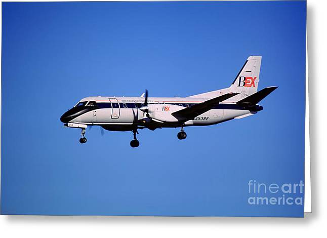 Business Express, Delta Connection, N353be, Bex Saab 340b Greeting Card