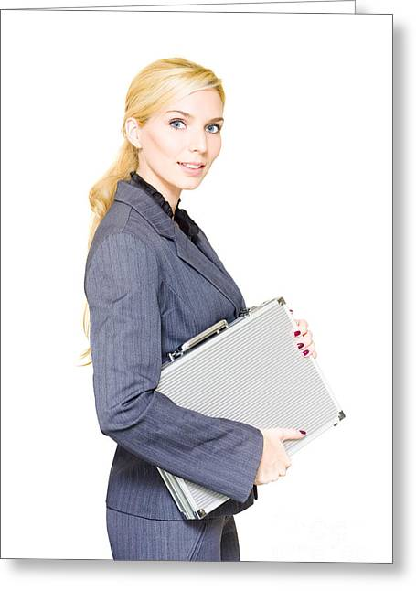 Business Person Greeting Card