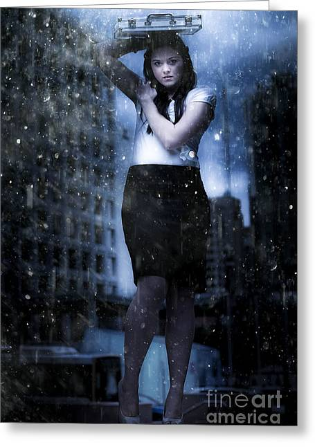 Business Storm Greeting Card by Jorgo Photography - Wall Art Gallery