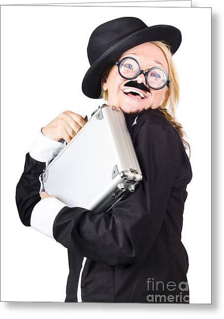 Business Woman In Disguise Greeting Card