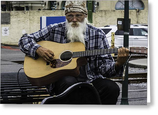 Busking In New Orleans, Louisiana Greeting Card
