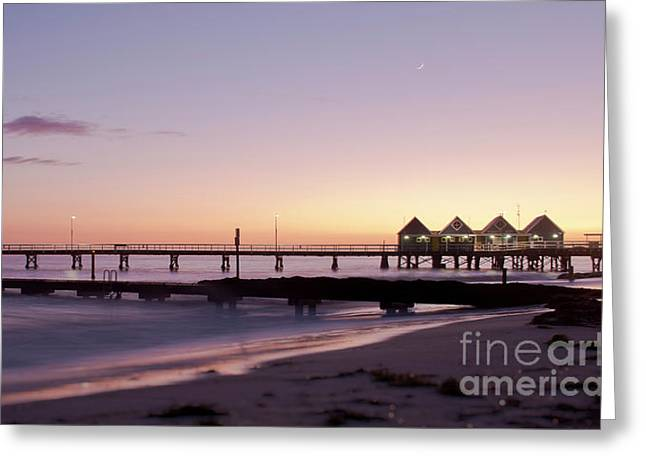 Busselton Jetty Sunrise Greeting Card by Ivy Ho